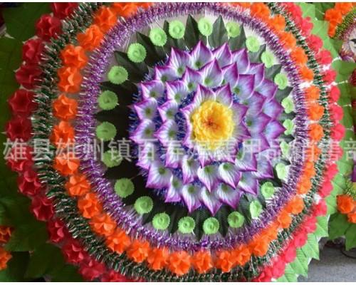 花圈折叠绢花花圈1.8-2米双层三层花圈