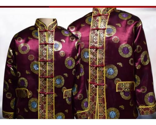 全套寿衣高档棉三件寿衣丝绸