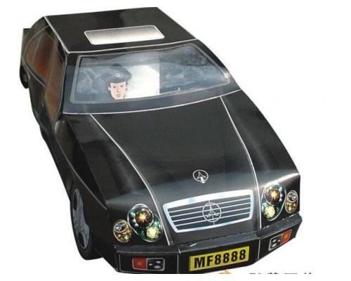 32-J5012大奔驰汽车(18寸)黑纸扎