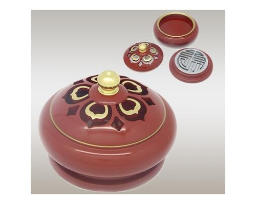 纯铜厂家直销朱红圆边素面莲花香印炉铜制佛教香具包邮