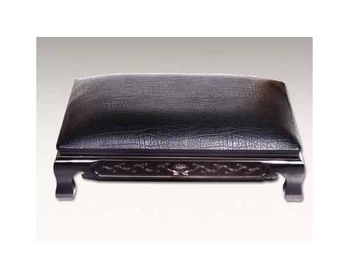 木刻雕皮莲垫(黑\红)大号 大件商品均用汽车配货发货