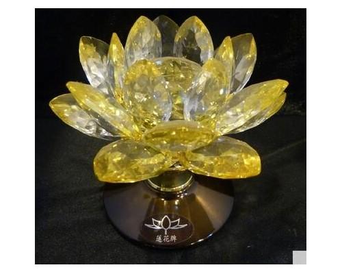 紫黄莲花水晶灯 罗汉堂厂家直销 澳地利水晶K3001