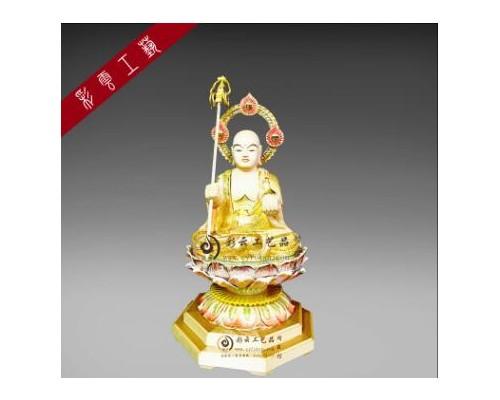 彩云工艺品娑婆三圣佛像地藏王菩萨原木佛教佛具批发