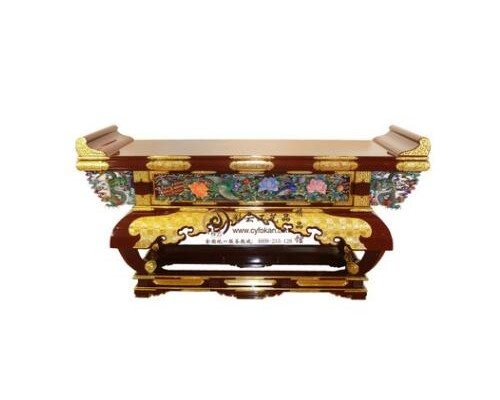 彩云朱红七尺大佛柜供桌 纯手工实木制作财神柜