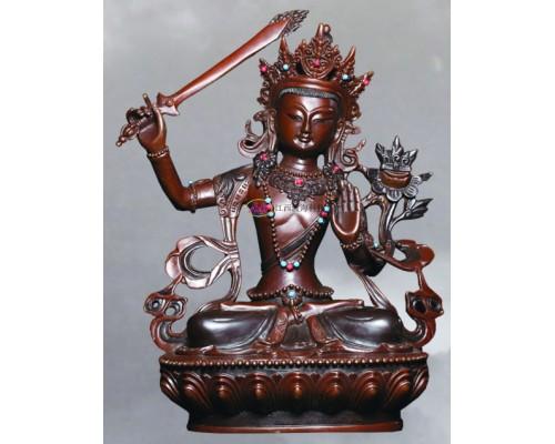 江西渡文殊菩萨铜像佛像佛堂摆件佛像工艺品