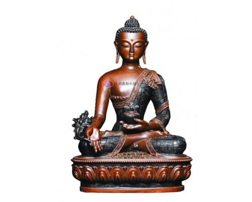 江西渡药师佛铜像佛像佛堂摆件佛像工艺品