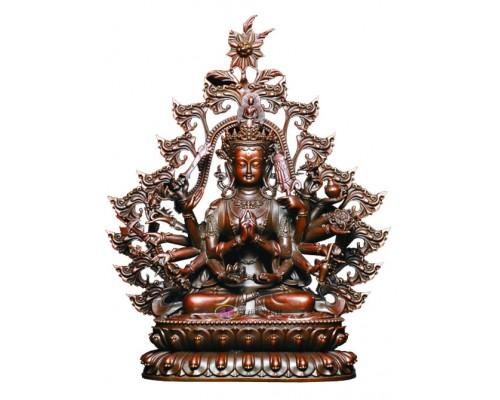 江西渡药准提佛母铜像佛像佛堂摆件佛像工艺品