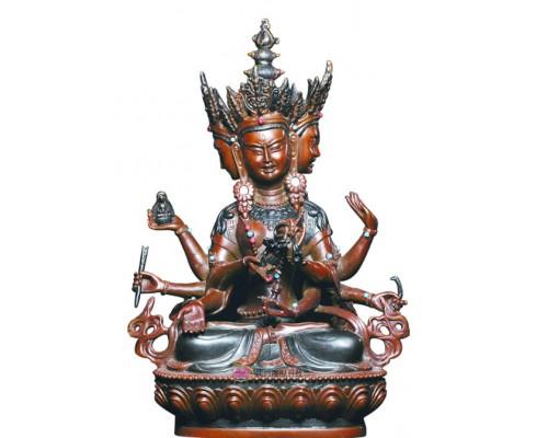 江西渡尊胜佛母铜像佛佛像佛堂摆件佛像工艺品