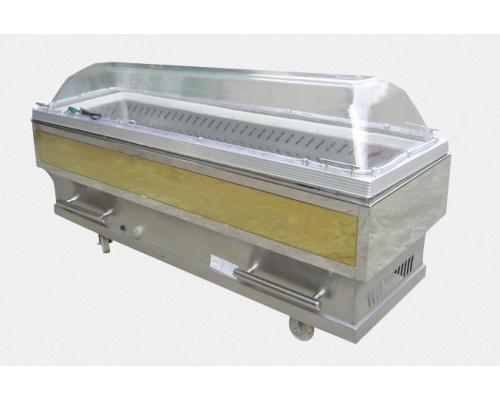 西式钛板不锈钢制冷水晶棺长×宽×高2040×680×1040