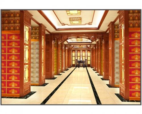 纳骨堂骨灰龛架智能纳骨堂设计装修效果图