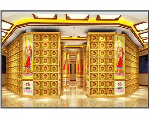 祠堂骨灰龛架特点祠堂设计装修案例图