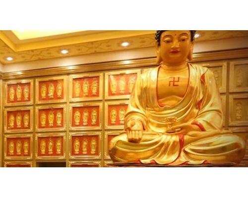 寺庙佛教佛堂骨灰盒存放架设计装修