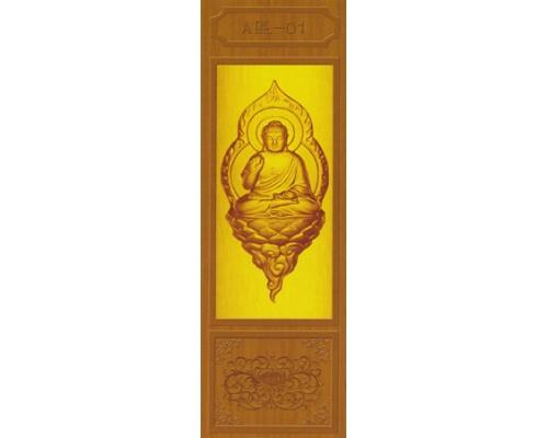 骨灰存放架侧面板-金色佛像