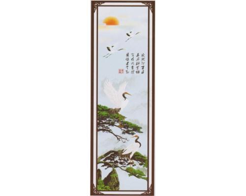 骨灰盒存放架侧面板-松鹤