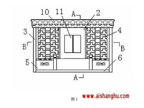 骨灰存放架组合式存放箱门制作方法