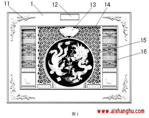 单穴和双穴整体骨灰盒存放箱浮雕门制作方法