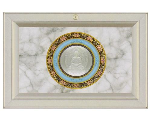 LED光影琉璃面板-扇形地藏王佛像骨灰盒橱单穴面板