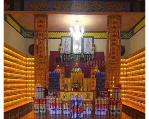 寺庙万佛墙案例实体照片