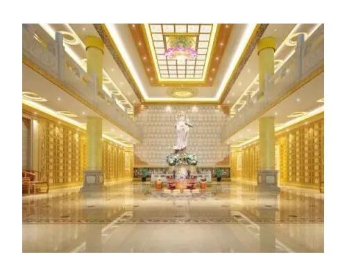 寺庙佛教骨灰存放架设计装修案例