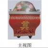 尸体水晶棺(红色)主视图后视图立体图棺材冷冻棺 钛合金冰棺