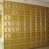 地宫骨灰盒寄存架铝合金设计案例图