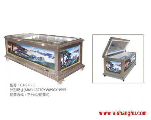 殡葬棺材冷冻棺水晶棺冷柜水晶棺材银色不锈钢CJ-SH-1
