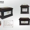 莲心阁大款骨灰盒SZ0004莲心阁纯银实木寿盒