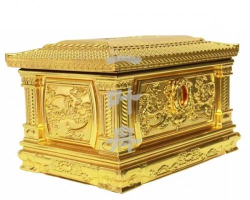 黑檀木全包金,金五福骨灰盒寿盒一叶舟