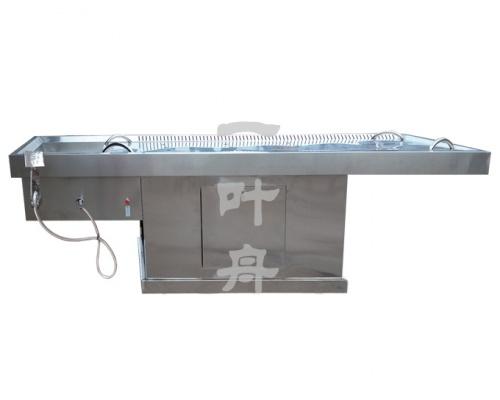 多功能化妆淋雨床(可自动升降型)不锈钢尸体解剖台一叶舟