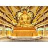 寺庙骨灰存放架定做寺院佛堂设计装修效果福建鸿福达