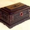 吉祥盒(黄檀木骨灰盒)骨灰龛国人牌