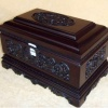 灵芝盒(鸡翅木骨灰盒)骨灰龛国人牌殡葬用品