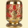 骨灰盒灯笼形(牡丹富贵)规格20x20x30cm