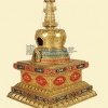 骨灰盒舍利塔(吉祥八宝)规格24.5x24.5x40cm