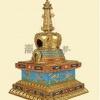 骨灰龛舍利塔(飞天)规格24.5x24.5x41cm