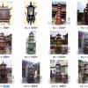 寺院佛教圆形焚经炉圆形六龙柱多层焚经炉道观铜铁焚纸炉