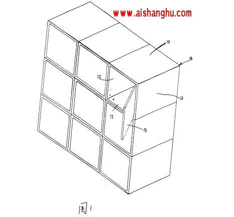 图1是现有技术中的骨灰盒置放装置的结构示意图。