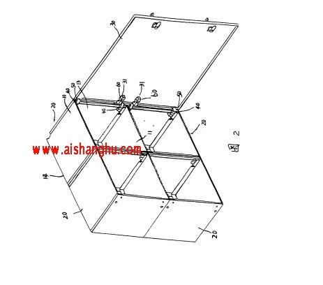 图2是本实用新型一种用于置放骨灰盒的组合柜的改良结构的结构示意图。