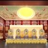 宗教寺庙佛堂骨灰存放架大殿装修设计效果