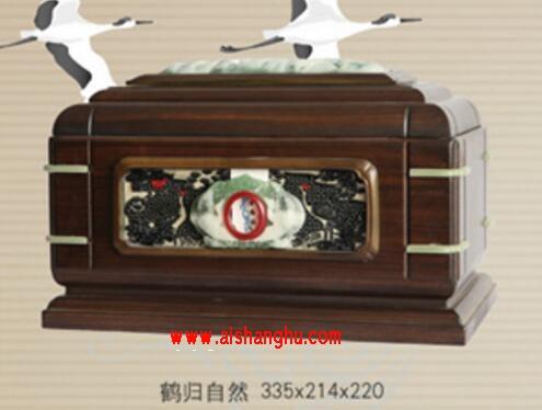 鹤归自然实木骨灰盒/骨灰龛恒昊机械