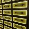 纳骨堂琉璃骨灰架架体设计装修实体照片港盛金属