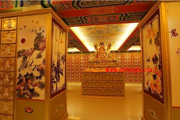 寺庙佛教骨灰存放架案例图片上海仙卿