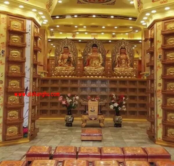 寺院佛教骨灰存放橱实体照片图江西星宏