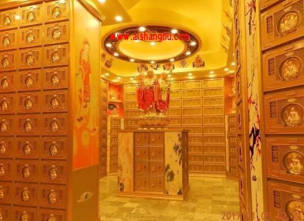 地宫铝合金骨灰盒寄存架案例图江西金硕