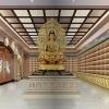 寺庙佛教万佛墙工程设计效果图江西仙廷精藏