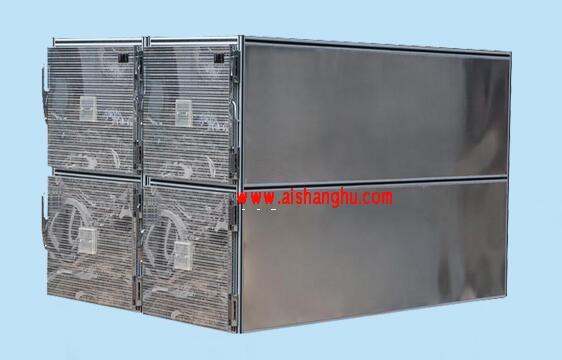 不锈钢四门一体太平柜遗体冷藏柜箱体九江天红