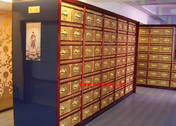 佛教寺院骨灰存放架实体照片殡葬用品九江天红