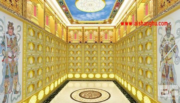 地宫骨灰盒存放架体装修设计效果高清图片江西天颐