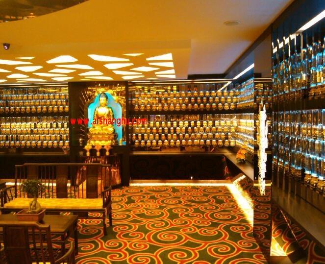 万佛墙智能灯光控制系统LED彩色灯带照射可设置亮灯及佛经播放