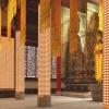 寺院智能光明灯桃柱型尺寸可定制四川八吉祥